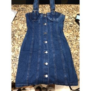 Guess Jeans Denim Overall Dress